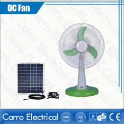 Modern New Design Energy Saving Solar 12V DC Table Fan Colors Optional Fast Delivery Wholesale Price DC-12V14M4