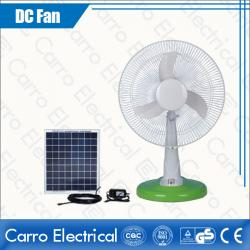 china Modern New Design Energy Saving Solar 12V DC Table Fan Colors Optional Fast Delivery Wholesale Price DC-12V14M4 supplier