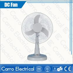 School Domestic Protable AC/DC Electric Solar Powered Rechargeable Table Fan White OEM Welcoemd ADC-12V14M3