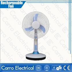 New Design Popular Rechargeable Silent Table Fan Low Noise with LED Light Nice Appearance CE-12V16A