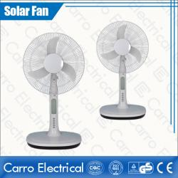 china 16 Inches Fan Blade AC/DC Plastic Long Life Time DC Motor Table Fan with 18 LED Lamps ADC-12V16A3 supplier
