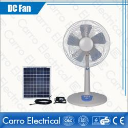 All in One 12V 16 Inches Solar Panel DC Floor Standing Fan Quality Guaranteed Wholesale DC-12V16TD1