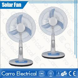 Çin Rechargeable DC Motor Solar Power Stand Fan with 12 LED Lamps Easy Operation 3 Levels Controller CE-12V16TD2 geç