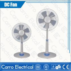 High Quality White Cooling DC Solar Panel Control Rechargeable Standing Fan Colors Available CE-12V16TD1