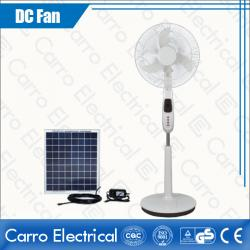 china Classic Red and Ocean Blue Cooling DC Solar Charging Floor Stand Fan High Quality Made in China CE-12V16K5 manufacturer