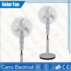 china Quiet and Low Noise PP & ABS 2 Batteries Electric DC Solar Rechargeable Stand Fan CE-12V18K4 manufacturer