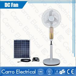 china High Speed 1350rpm White DC Solar Rechargeable Floor Standing Fan Eco-friendly CE-12V16K6 manufacturer