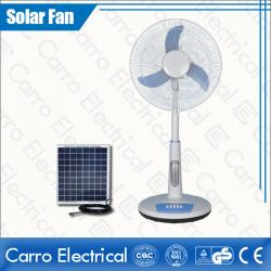 china Cooling DC Solar Panel AC/DC All in One 16 inches Fan Blade Stand Fan Environmental Protection ADC-12V16TD2 manufacturer