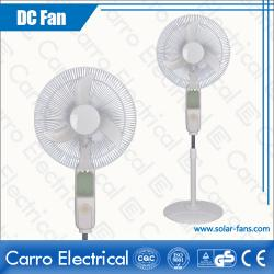 china AC DC Dual 12V 16 Inches Solar Panel Electric Floor Stand Fans Colors Available OEM Welcomed ADC-12V16B4 manufacturer