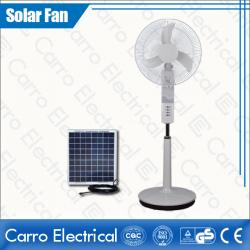 Çin Nice Looking DC Motor Stand Fan with 12 LED Lamps 16 Inches Fan Blade High Quality Safe Operation DC-12V16K4 geç