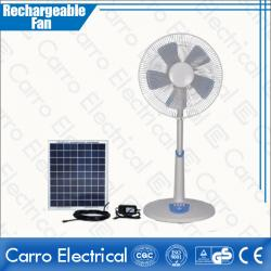 Çin Cooling DC Molar Panel Rechargeable Big High Speed Stand Fan OEM Welcomed CE-12V16TD1 geç