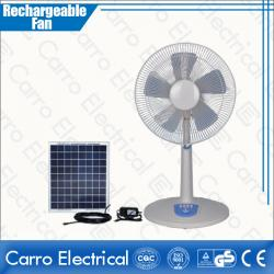 Cooling DC Molar Panel Rechargeable Big High Speed Stand Fan OEM Welcomed CE-12V16TD1