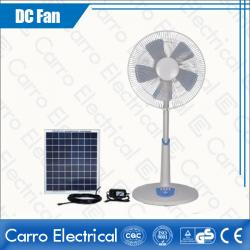 china Hot Sale Electric Cooling AC Adapter and DC Plug Rechargeable Floor Stand Fan Energy Saving ADC-12V16TD1 manufacturer