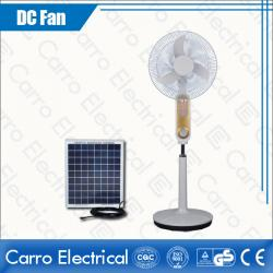 china Hot Selling DC 12V and 110V/220V DC Motor Stand Fan with Lamp Quiet Low Noise Energy Saving ADC-12V18K7 manufacturer