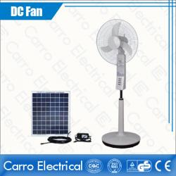High Speed 1350rpm AC DC Solar Standing Floor Fan 18 Inches Fans Blade White ADC-12V18K4