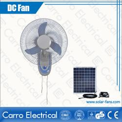 china Hot Sale 12V 35W Solar Dc Home Rechargeable Wall Fan 16 Inches Fan Blades OEM Welcomed CE-12V16F2 fabricante