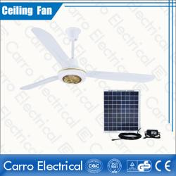 Китай OEM Welcomed All in One High Speed DC 12V Solar Ceiling Fan Decorative with 3 Metal Fan Blades DC-12V56A6 поставщиком