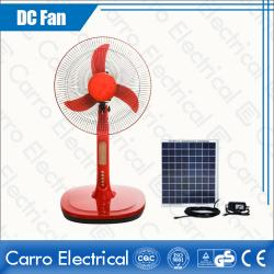 Sales promotion model 16 inch solar dc fan with led light DC-12V16A3