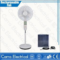 china 12V 16 inch dc motor rechargeable battery fan with solar panel CE-12V16B4 manufacturer