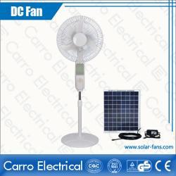 中国 15W Solar Stand Fan 16 Inches Fan Blades 3 Levels Controller with 12 LED Lamps DC-12V16B4  メーカー