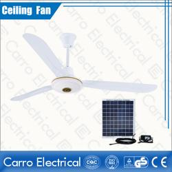 china 36W AC DC Powered Ceiling Fan White Color Metal Blade Brushless Motor CE Approved manufacturer