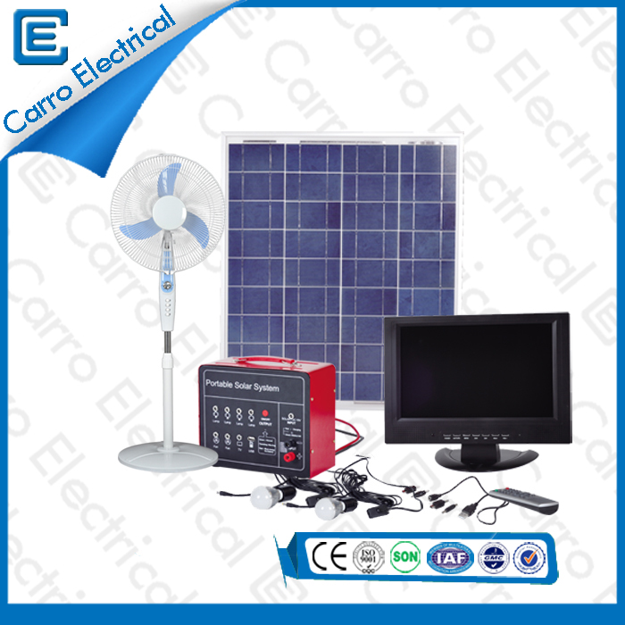 china 80W Easy to Use Household Portable Electric Solar Power Home System Durable Long Working Time CES-1233 supplier
