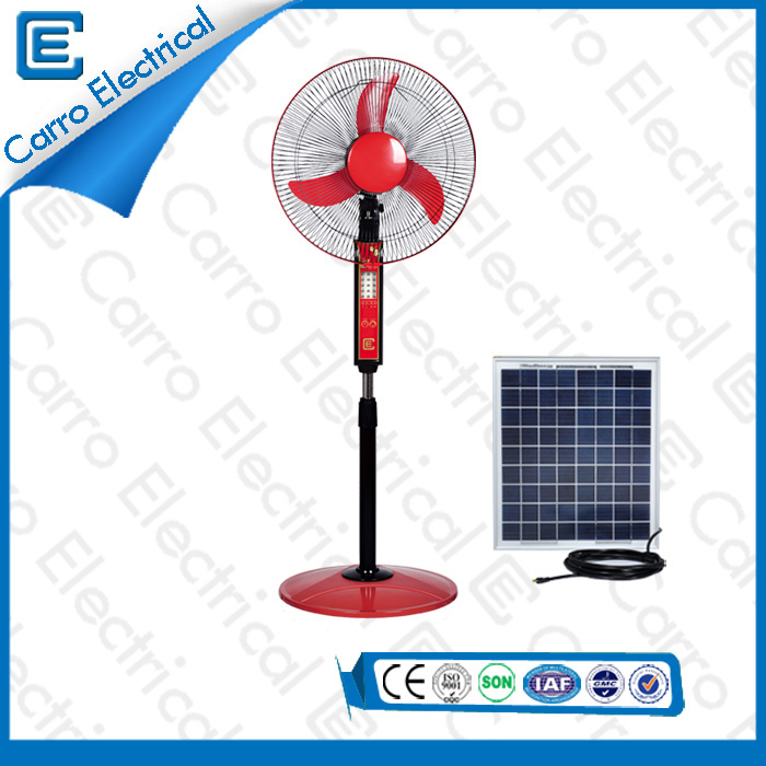 china Multi-Color 3 Stufen einstellbar DC 15W 12V Solar Power Stehen Fans mit LED-Licht Hohe Qualität DC - 12V16B supplier