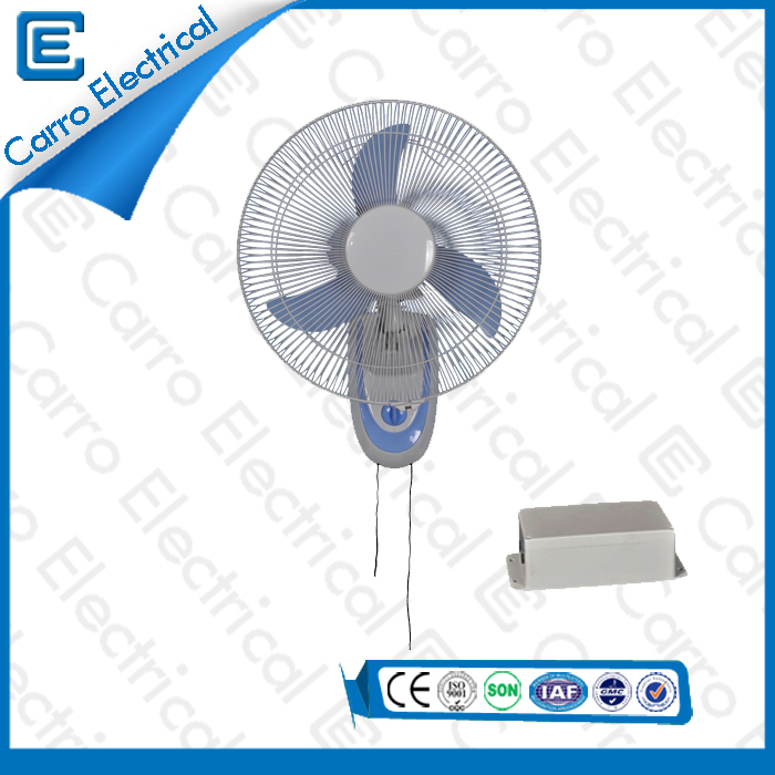 china 12V 15W 16 Pouces Energy Saving panneau solaire DC High Speed ​​Quiet Fan mur design DC- 12V16F2 fournisseur