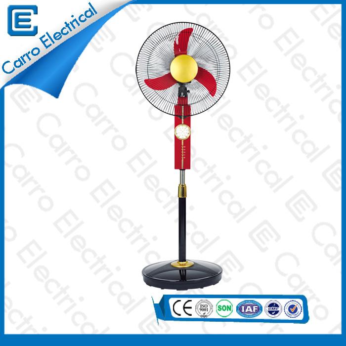 china OEM Welcomed Best Rechargeable Floor Standing Fans DC 12V/Solar Power China Manufacturer DC-12V16K supplier