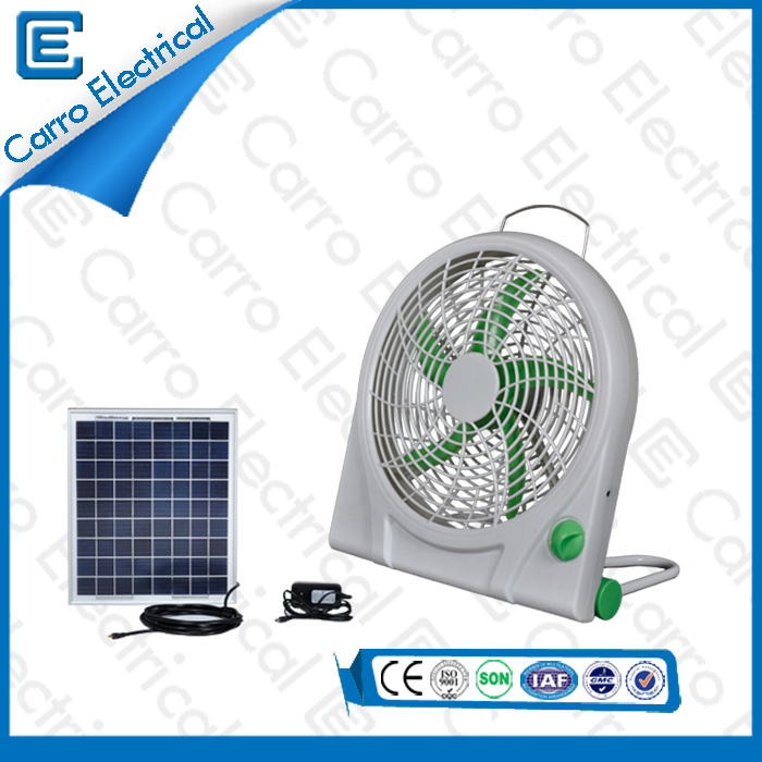 china Solar or DC Small Box Cooling Fan Portable Three Levels Wind Design Manufacturing Factory 1 Year Warranty DC-12V10Q supplier