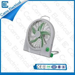 china AC DC Box Fan 12 Volt Convenient Carrying 10 Inches Fan Blade ABS Material Long Life Time supplier