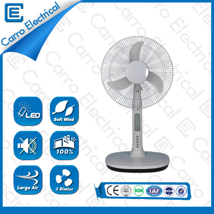 china New product energy-saving AC DC solar table fan ADC-12V16A3 supplier