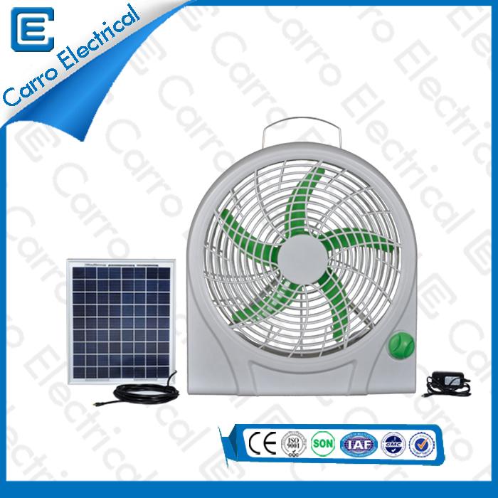 china Konkurrenzfähiger Preis solarbetriebene Elektro Wiederaufladbare Box Fan Qualitäts-langes Lebens Zeit Einfache Bedienung CE - 12V10Q supplier