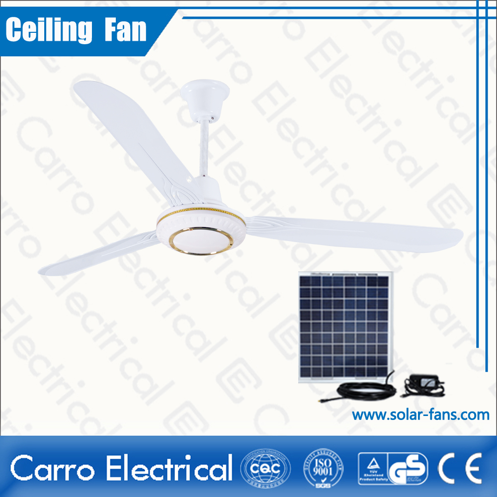 china Good sale for the Ce 56inch solar ceiling fan price DC-12V56E2 fournisseur