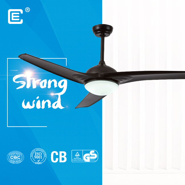 52 inch plastic AC ceiling fan with lamp