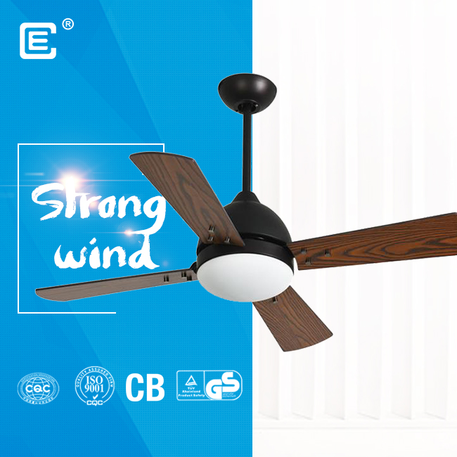 china 52'' 220 volt led wood blades ceiling fan supplier