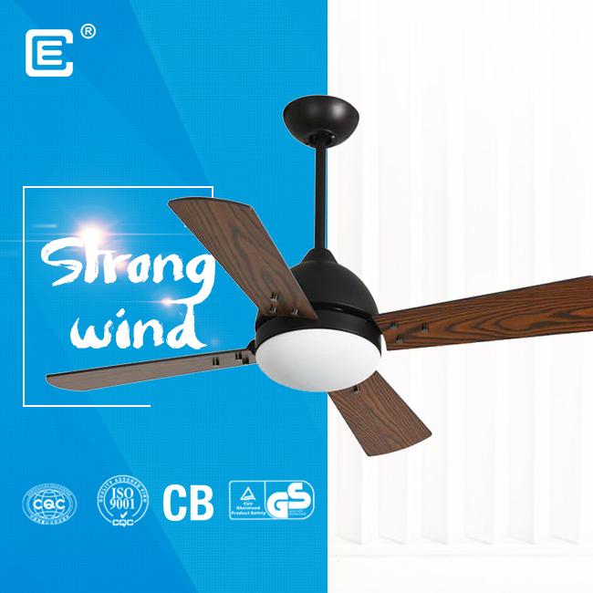 china 52'' 220 volt led wood blades ceiling fan fournisseur