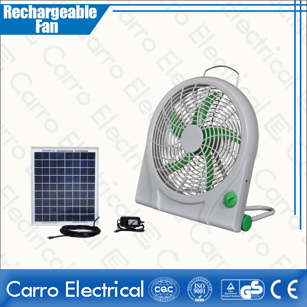 china High Quality 12V 6W 10 Inches DC Power Panel Solar Rechargeable Box Fan Energy-saving Cheap Wholesale Price CE-12V10Q fournisseur