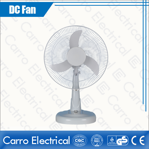 Китай 12V 12W 14 Inches DC Motor Retro Oscillating Desk Fan Portable Small Size ECO-friendly Easy to Operate DC-12V14M3 поставщиком