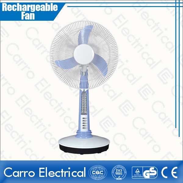china High Rotation Speed Battery Powered Mini Table Fan Rechargeable with Led Lamp Quality Guaranteed OEM Accepted CE-12V16A2 supplier