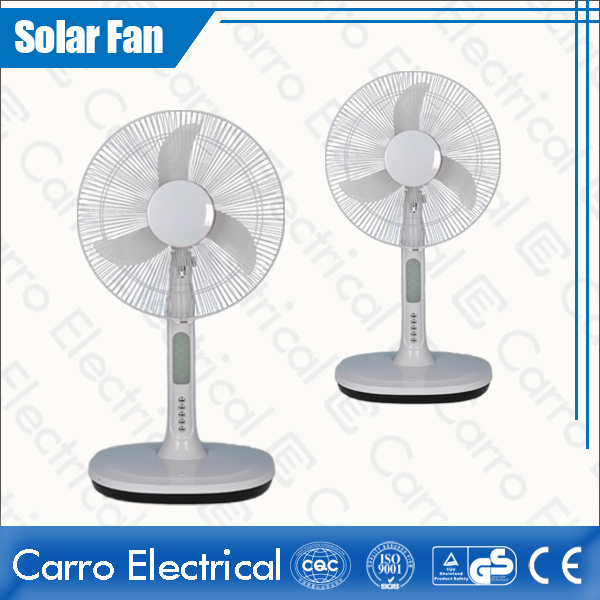 china 16 Inches Fan Blade AC/DC Plastic Long Life Time DC Motor Table Fan with 18 LED Lamps ADC-12V16A3 fournisseur
