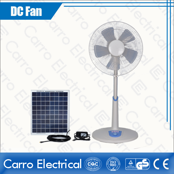 Çin All in One 12V 16 Inches Solar Panel DC Floor Standing Fan Quality Guaranteed Wholesale DC-12V16TD1 geç