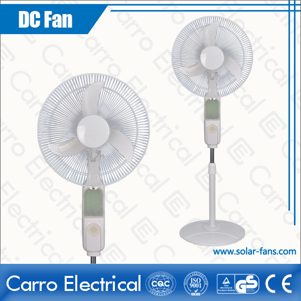 china AC DC Dual 12V 16 Inches Solar Panel Electric Floor Stand Fans Colors Available OEM Welcomed ADC-12V16B4 supplier