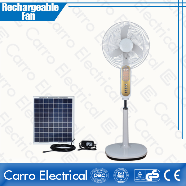 china High Speed 1350rpm DC Solar Rechargeable Floor Fan Indoor Outdoor Used 3 Levels Controller CE-12V16K6 supplier