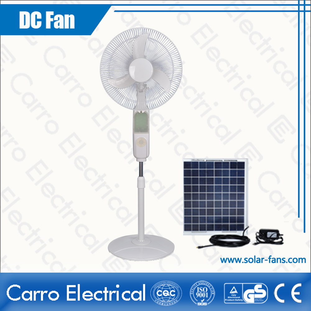 china High Quality DC Solar Panel AC/DC All in One 14 Inches Fan Blade Floor Standing Fan ADC-12V16B4 fournisseur