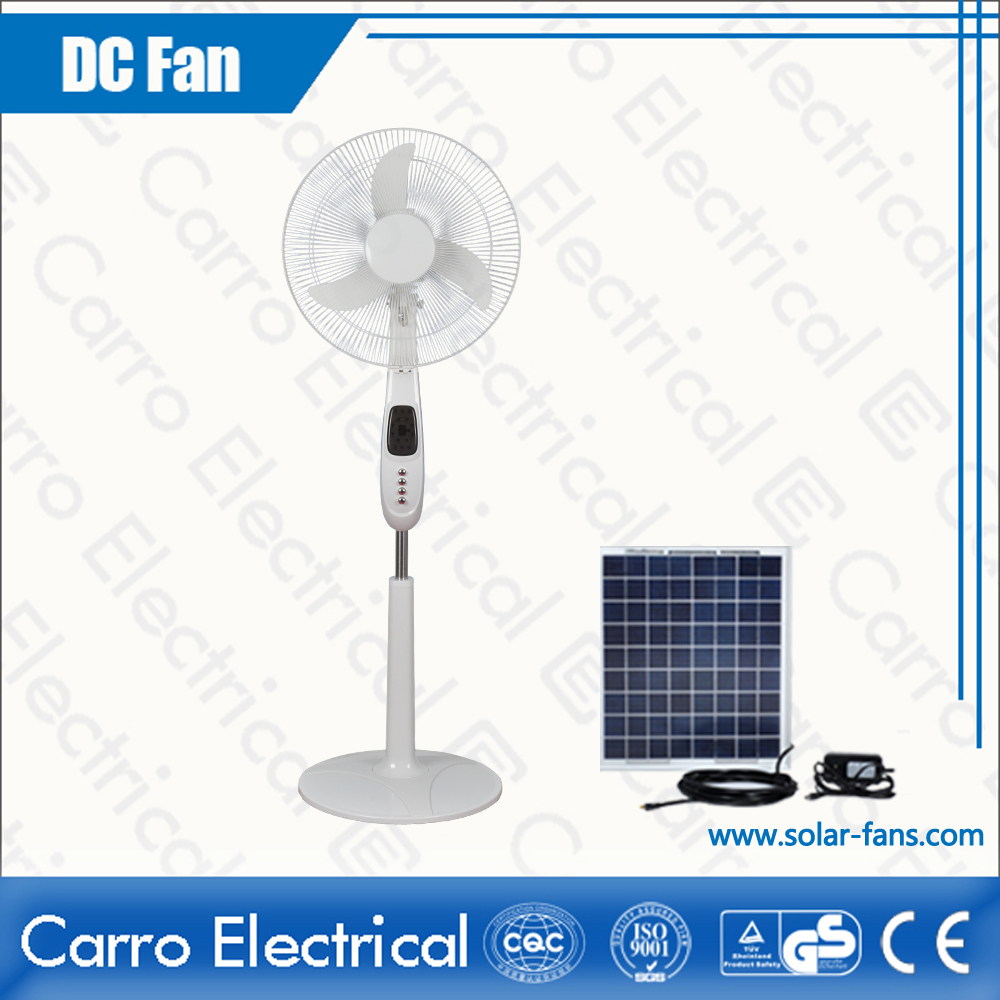 Wholesale White with Printing 12V 16 Inches DC 12V and AC Standing Fan with Light ADC-12V16K5