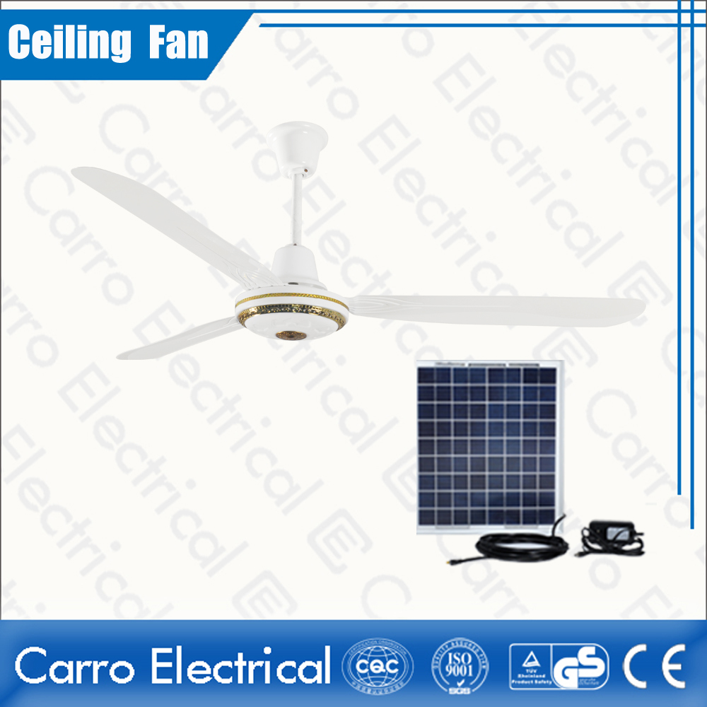 中国·High Speed 12V DC Solar Powered Ceiling Fan 56 Inches Fan Blade with Step Switch ADC-12V56C3·サプライヤー