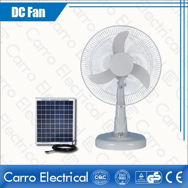 Китай AC DC double used 12V 16 inch solar table rechargeable fan ADC-12V16M3 поставщиком