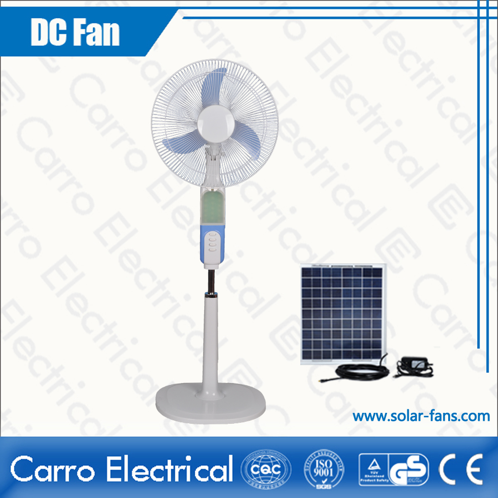 china Rechargeable Stand Fan Colors Available Three Levels Wind Control Convenient Carrying CE-12V16B3 fournisseur