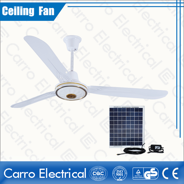 china New Fan Model Long Life Working Time DC Motor DC Solar Ceiling Fan DC-12V56A1 fournisseur